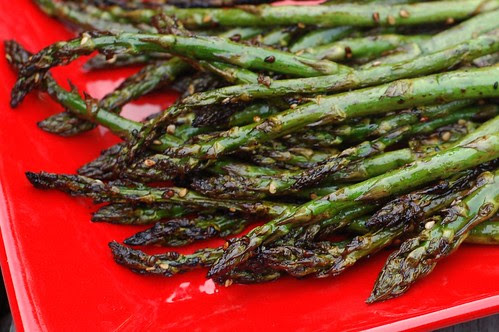 Grilled Asian-Style Asparagus by Eve Fox, Garden of Eating blog