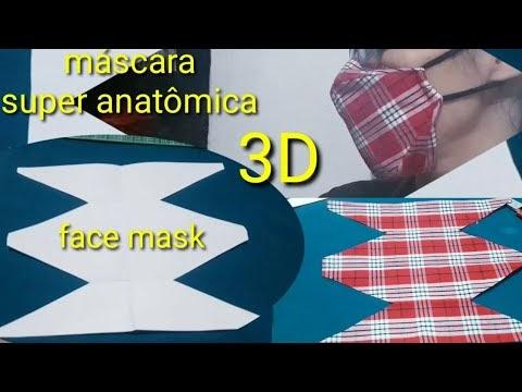 Costurada à mão ...máscara 3D super anatômica.