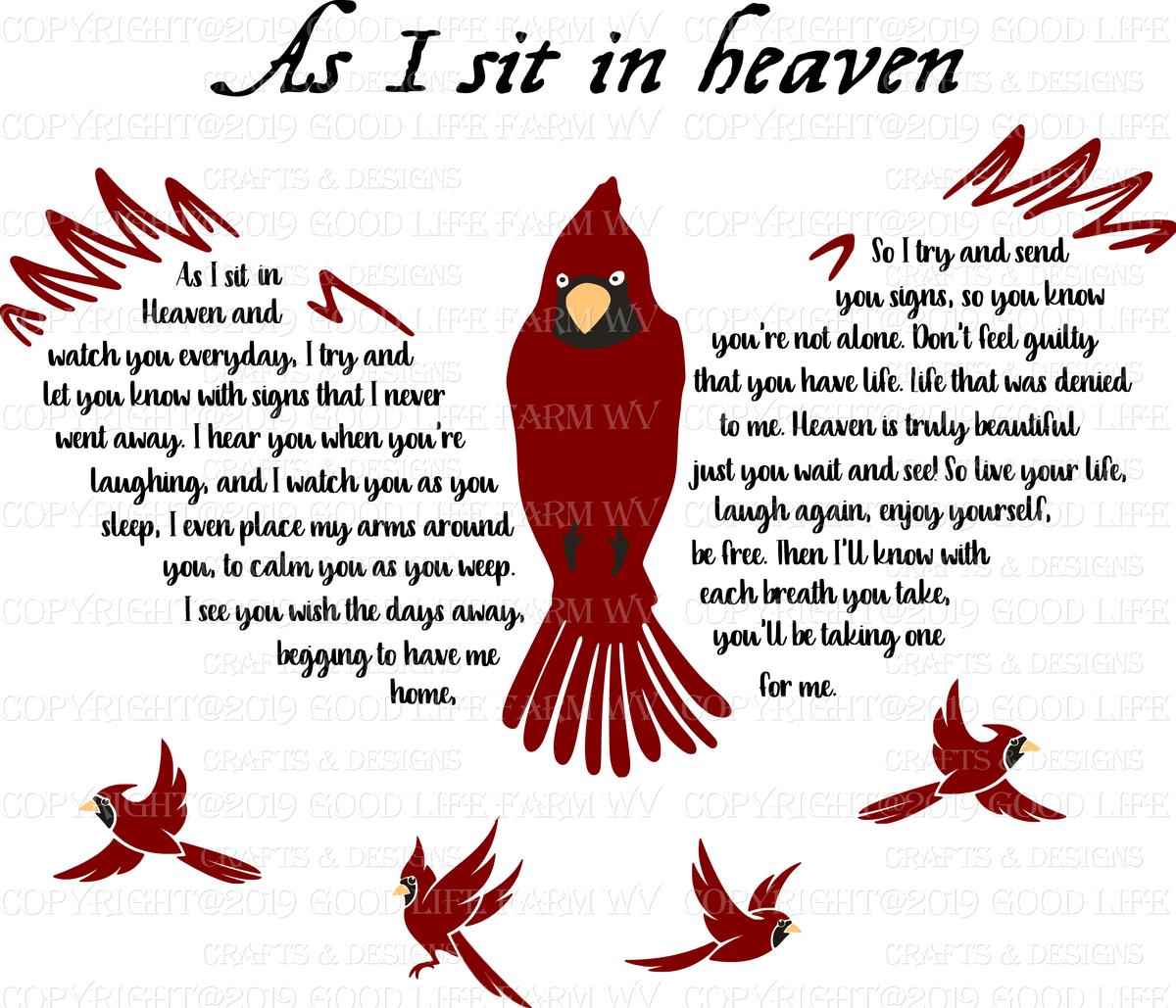 As I sit in Heaven.... 4 Designs Bundle- SVG, jpeg, png, pdf & eps Cut - Good Life Farm-Crafts ...