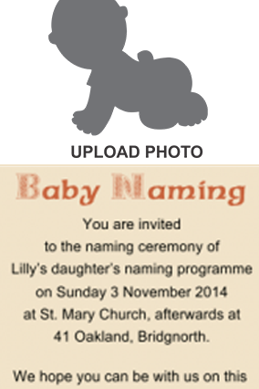 Naming Ceremony Invitation Namkaran Invitation Cards Online In