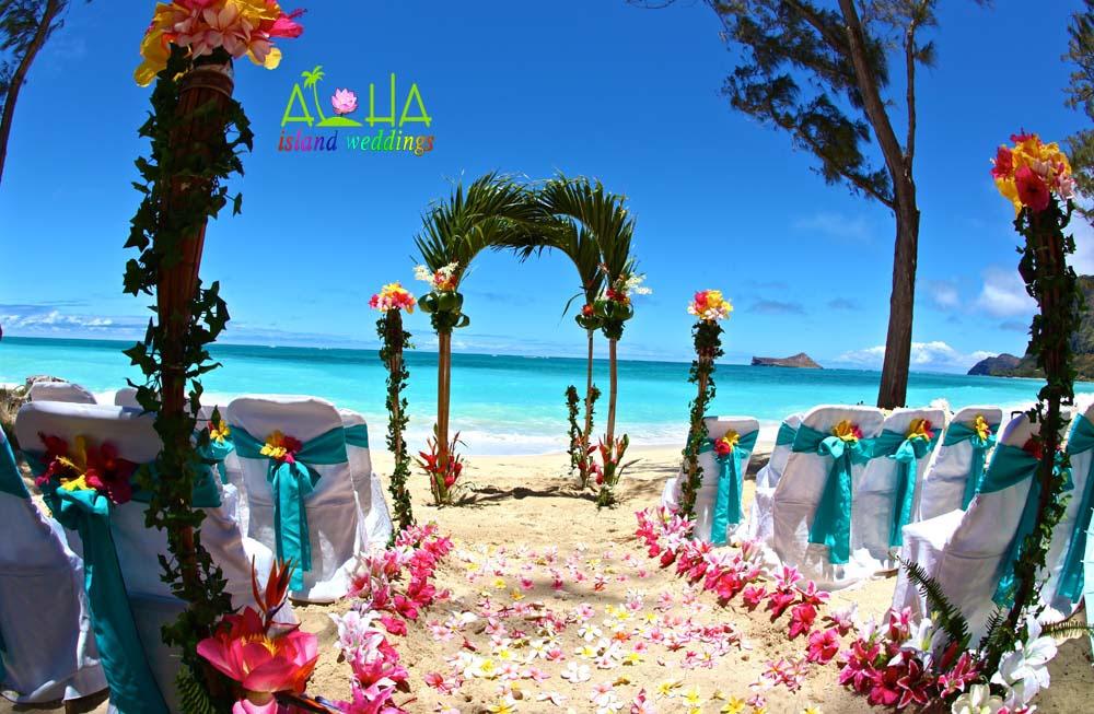 Hawaii Oahu Beach Wedding Arch