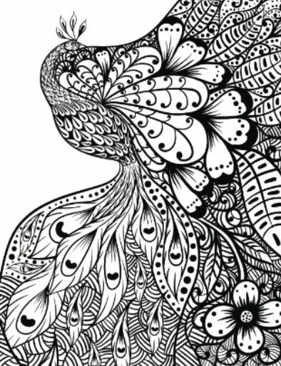 Zentangle Hearts Design Daily Planner - Diary Journal Book