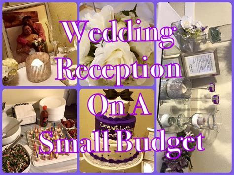 Small Wedding Reception done for Under $200.00   On A