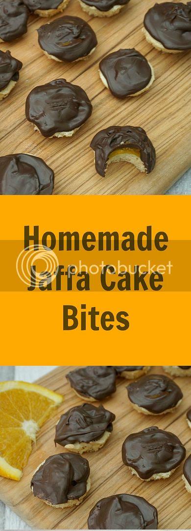 homemade jaffa cake bites
