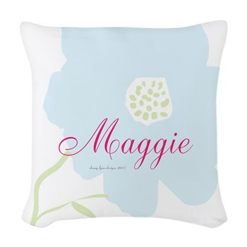 Maggie Name Woven Throw Pillow