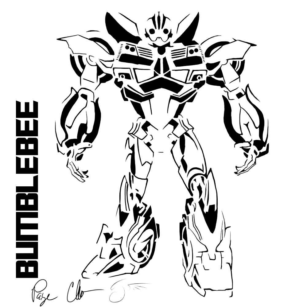 Transformer Bumblebee Drawing At Getdrawingscom Free For Personal