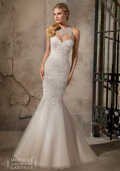 2015 Latest Halter Mermaid Lace Wedding Dresses Cheap