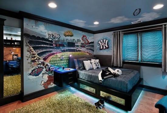 Jugendzimmer Wandgestaltung Ideen Schwarz weiß modern