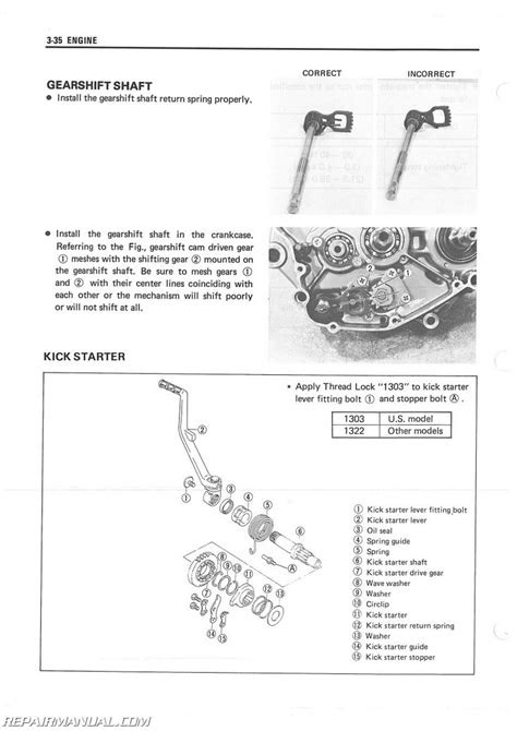 1985-1986 Suzuki LT250R ATV Service Manual
