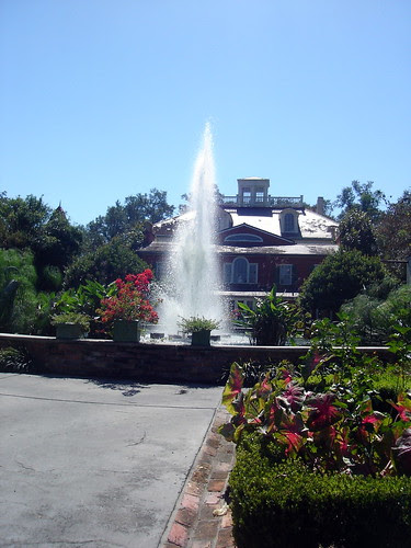 Fountain behind Houmas House