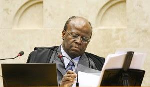 Joaquim Barbosa durante sessão de julgamento do mensalão no STF. Foto: Sergio Lima/Folhapress
