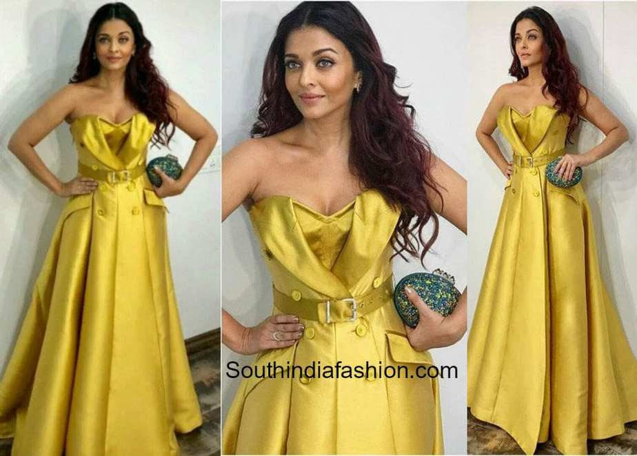 Aishwarya Rai Bachchan in Alexis Mabille at Ambani's party