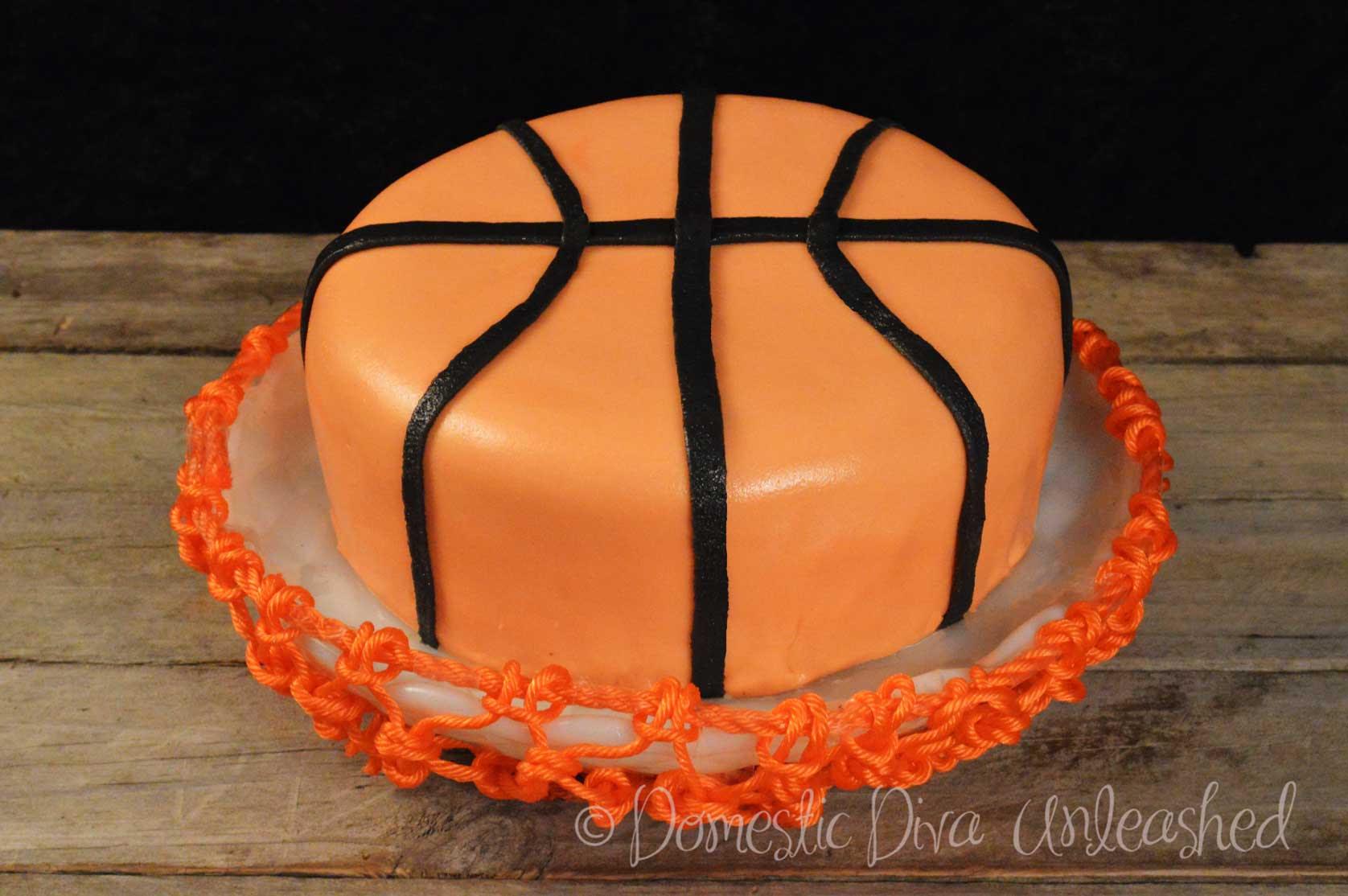 Basketball Birthday Cake Domestic Diva Unleashed