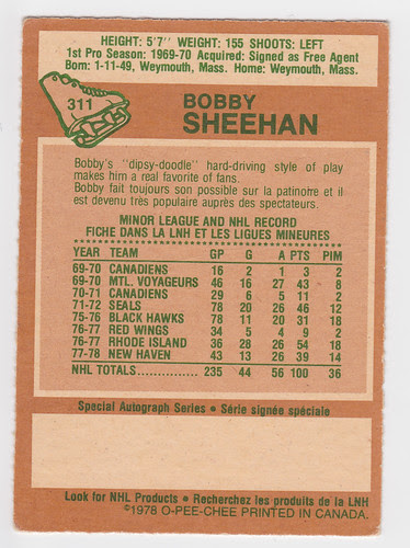 Bobby Sheehan back