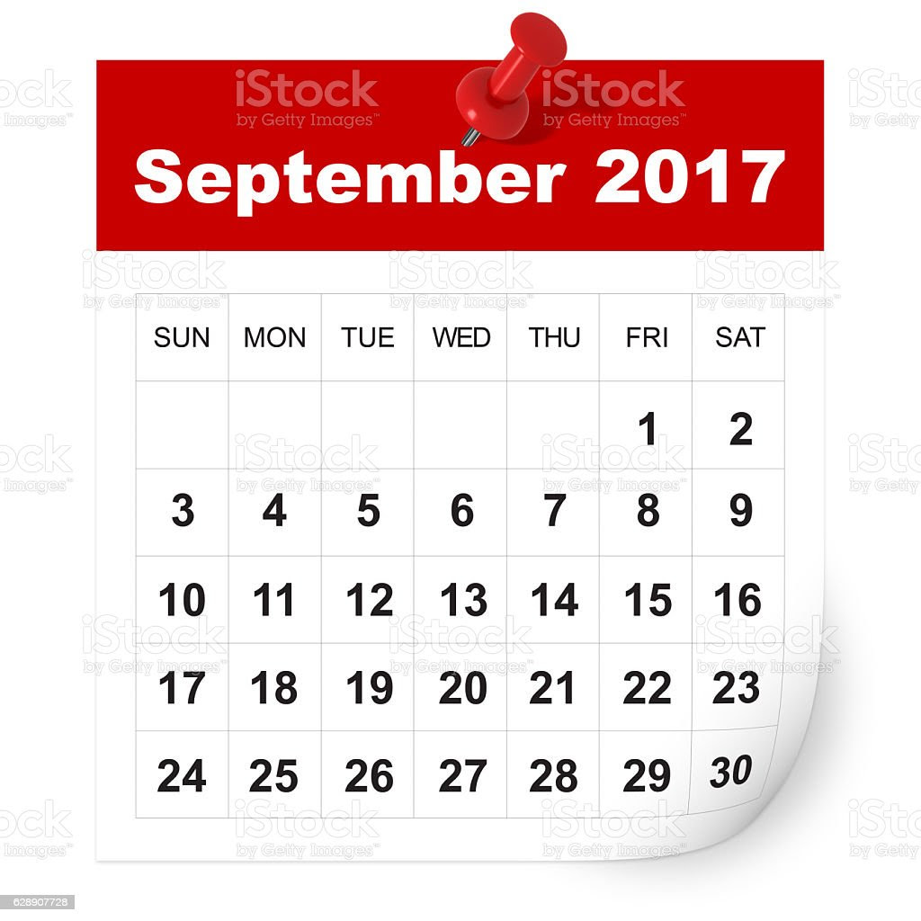 September 2017 Calendar stock photo 628907728  iStock