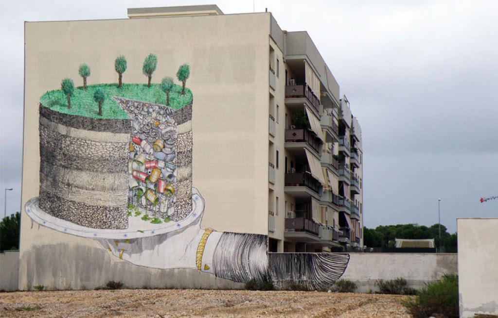 24 eloquentes obras de arte urbana mostrando a desagradável verdade 22