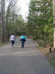 Walking to the Lodge