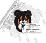 Miniature Australian Shepherd Dog Intarsia or YardArt Woodworking Plan - fee plans from WoodworkersWorkshop® Online Store - Miniature Australian Shepherd dogs,pets,animals,dog breeds,intarsia,yard art,painting wood crafts,scrollsawing patterns,drawings,plywood,plywoodworking plans,woodworkers projects,workshop blueprints