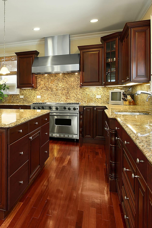 Gold Color Granite Kitchen Countertops Ideas (Gold Trend!)
