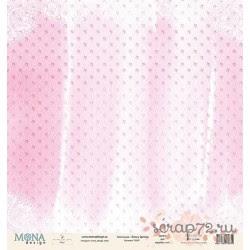 Лист бумаги для скрапбукинга 30,5х30,5 см 190 гр/м односторон Fancy Spring 12645