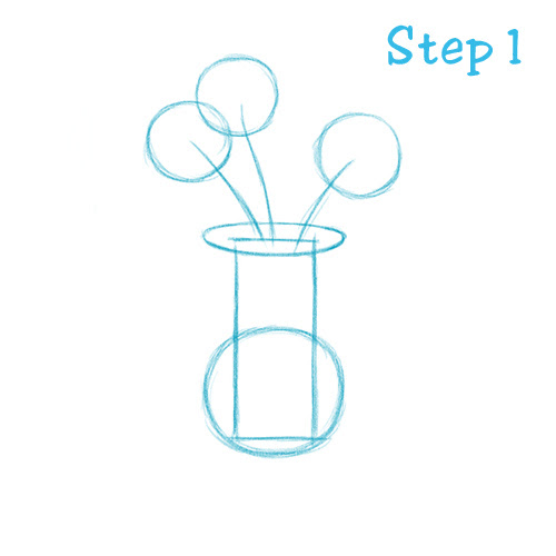 How To Draw A Flower Vase Beginning Sketch2draw Com Clipart Best Clipart Best