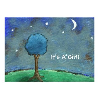 Starry Starry Night It's A Girl! From Original Art Announcement
