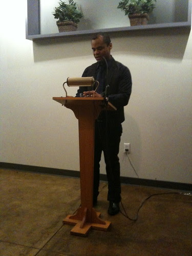 Ronaldo V. Wilson reading from his new book