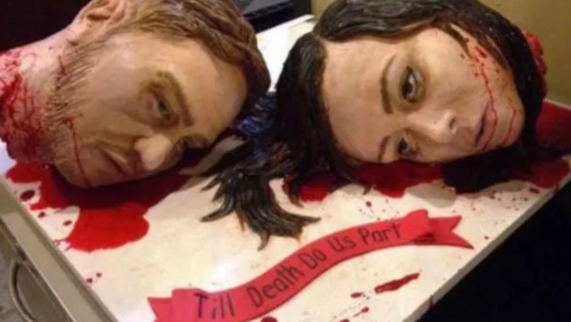 Couple Take 'Till Death Do Us Part' To Extreme With Severed Head Wedding Cake