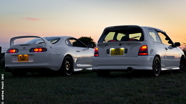 Toyota Glanza and Supra