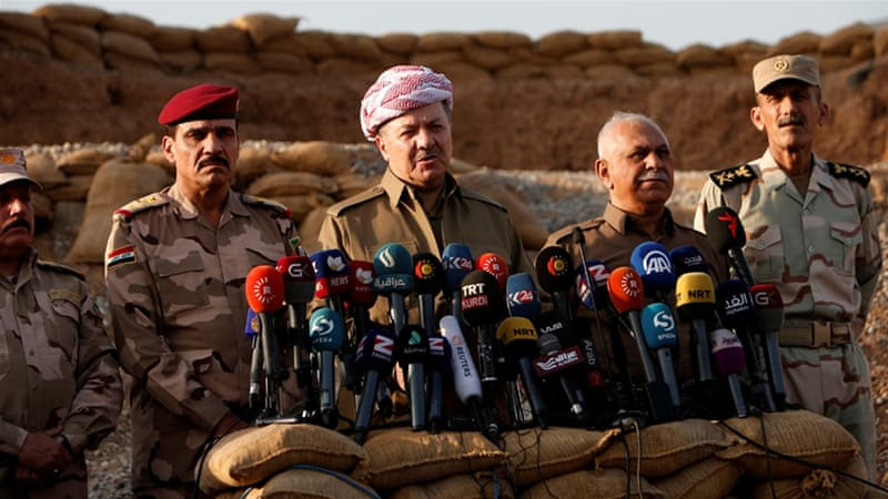 Barzani said the joint Iraqi force are launching the offensive from south and east of Mosul [Reuters]