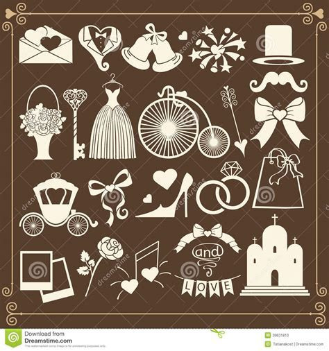 Wedding Design Icons For Web And Mobile.Vector Stock