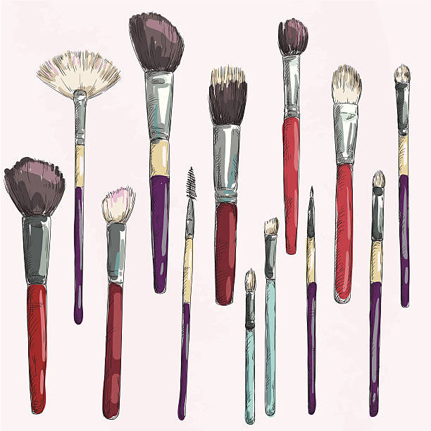 Make Up Brush Clip Art, Vector Images & Illustrations - iStock