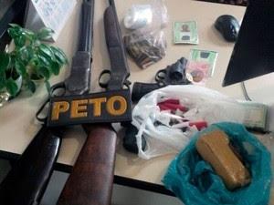 PMBA prende traficantes Suspeitos de homicídio postado no Whatsapp (Foto: Divulgação/PM)