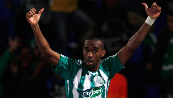 Mouhssinelajour gol, Atlético-MG x Raja Casablanca (Foto: Reuters)