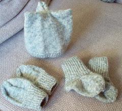 vauvan asustesetti Wool sävystä