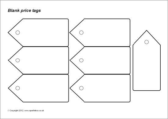 Blank and editable price tags templates (SB7782) - SparkleBox ...