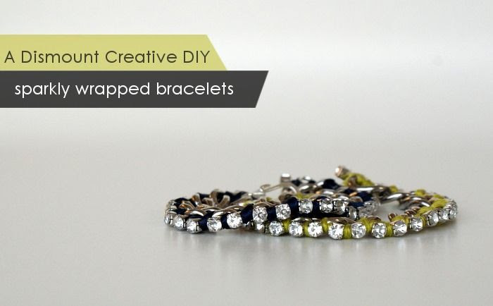 DIY Sparkly Wrapped Bracelets