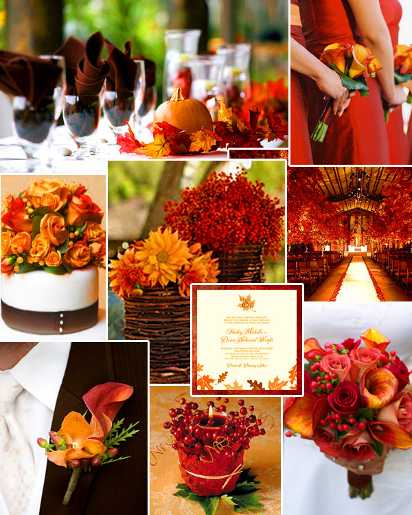 Favorite Fall Wedding Colors Burnt Orange Deep Red September 13 2011