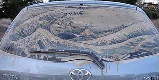 Έργα τέχνης σε σκονισμένα αυτοκίνητα (15)