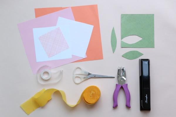 kağıt çiçek yapımı malzemeleri