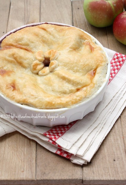Apple pie and blueberry