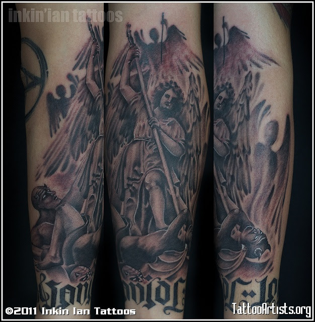 Amazing Group Angels Vs Demons Tattoo Artists Tattoomagz