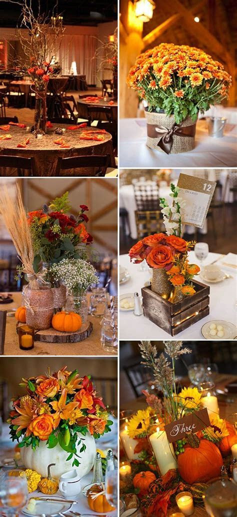 17 Best ideas about Fall Wedding Decorations on Pinterest