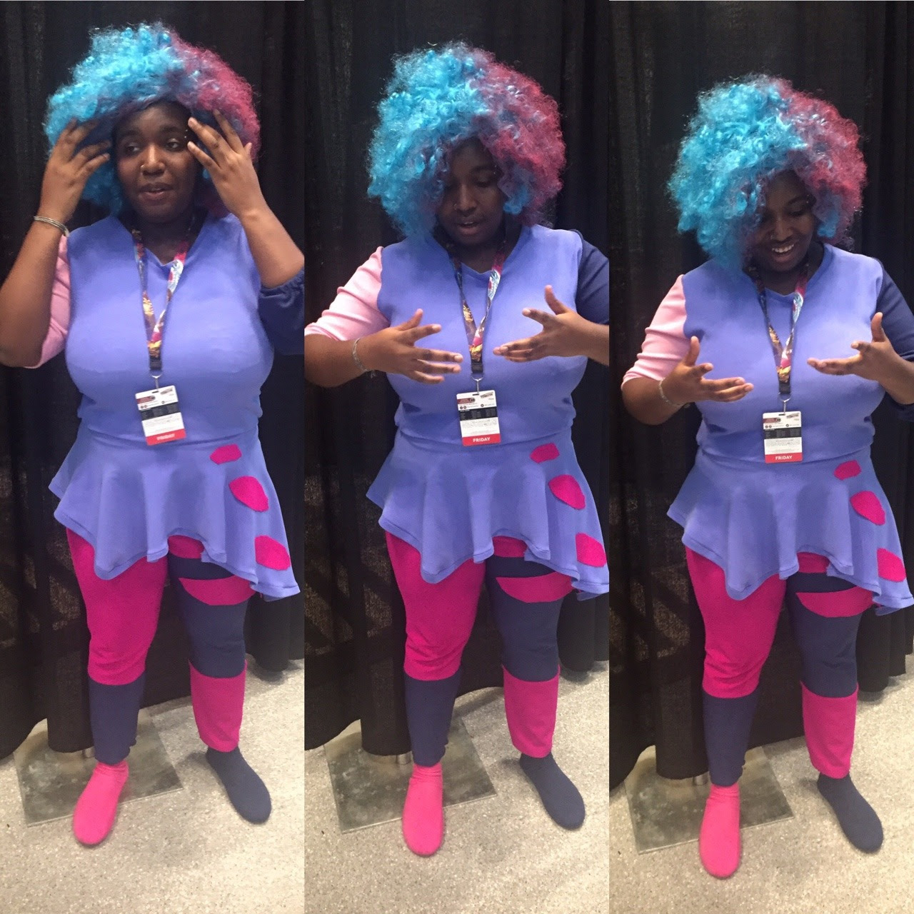 """No more questions. Don't you ever question this. You already are the answer."" Went to NYCC for the first time today!! Went with my best friend (who was amethyst) It was so amazing. I was Cotton Candy..."