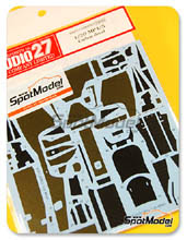 Decals 1/20 by Studio27 - McLaren MP4/5 - Carbon pattern decal for Fujimi kit