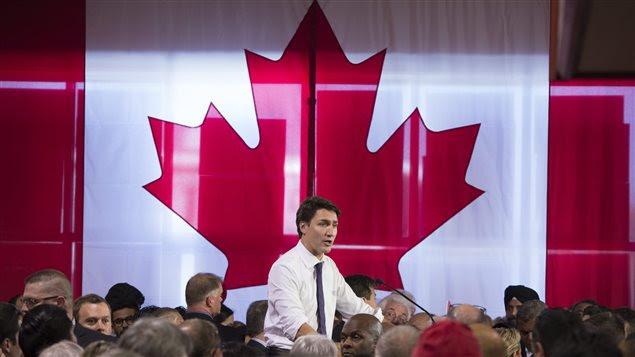 Justin Trudeau était à Nepean, dans la région de la capitale fédérale.