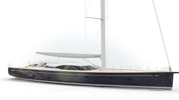 Oyster 115, custom sailing superyacht in development with Humphreys