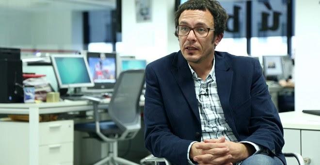 El alcalde de Cádiz, José María González, 'Kichi', en la redacción de 'Público'.