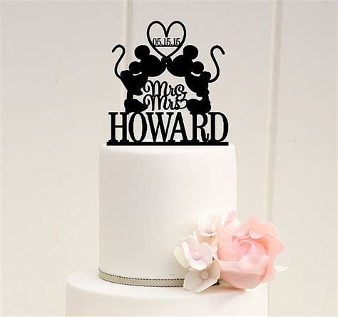 Mickey & Minnie Mr and Mrs Wedding Cake Topper with YOUR