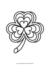 st patrick's day coloring pages • free printable pdf from primarygames